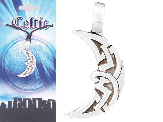 CELTIC Moon pewter Pendant